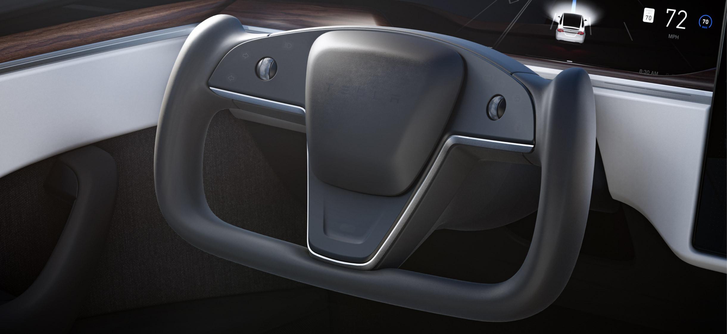 Model X refresh 2020 Q4 2020 (Tesla) yoke 1