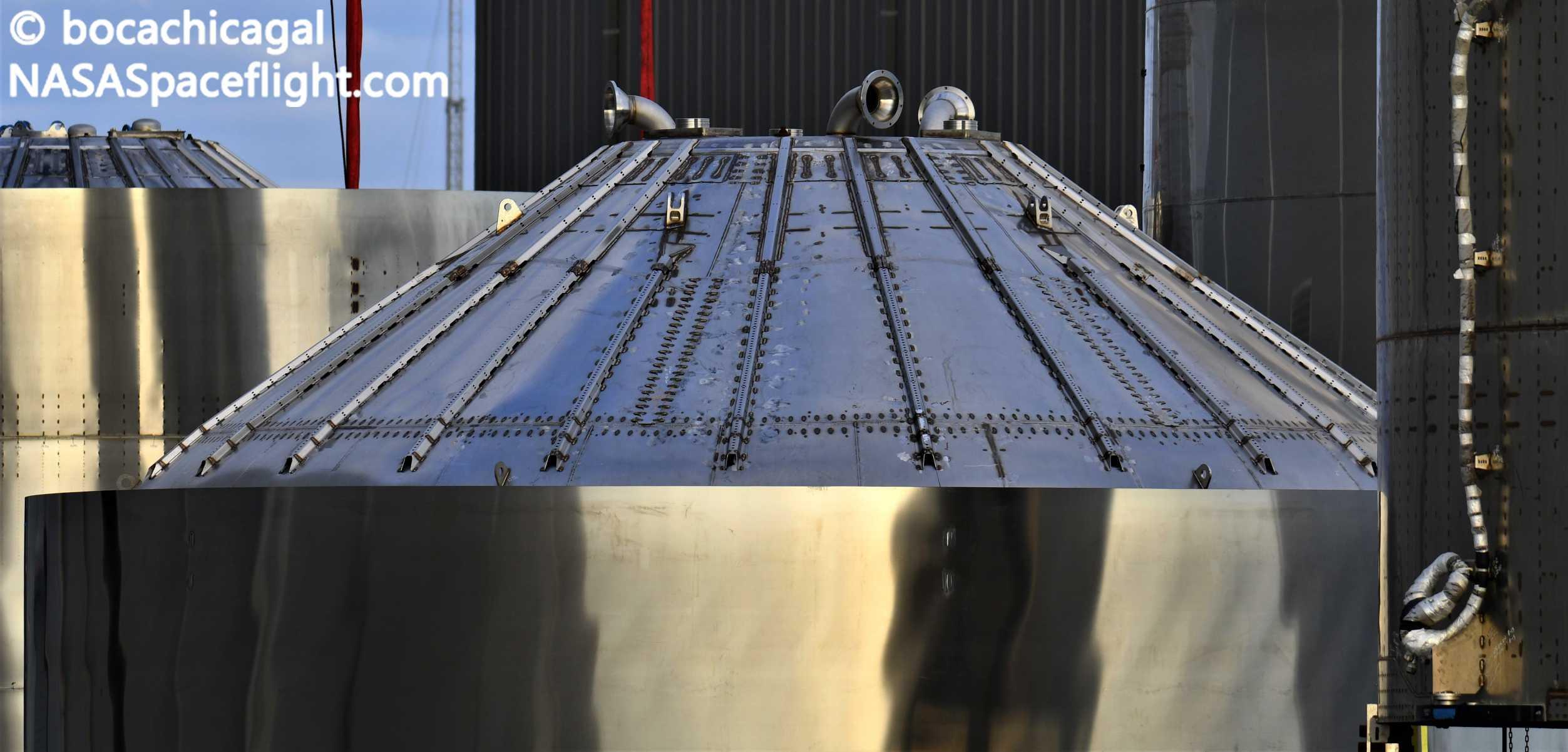 Starship Boca Chica 010321 (NASASpaceflight – bocachicagal) test tank engine section 1 crop (c)