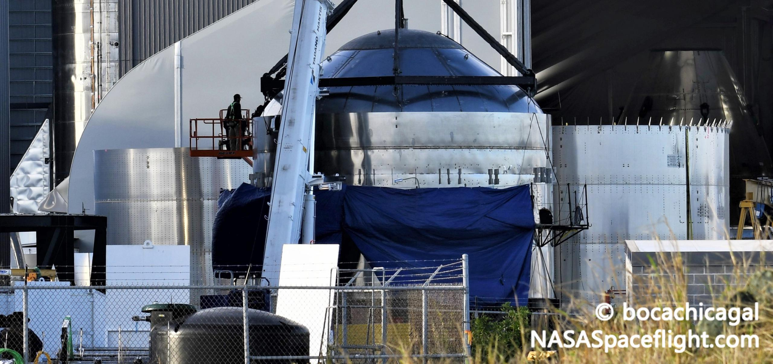 Starship Boca Chica 011321 (NASASpaceflight – bocachicagal) SN7.2 work + SN10 2 crop (c)