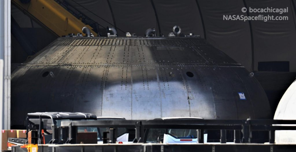 Starship Boca Chica 012521 NASASpaceflight bocachicagal BN1 thrust dome 2 crop c 1024x526.