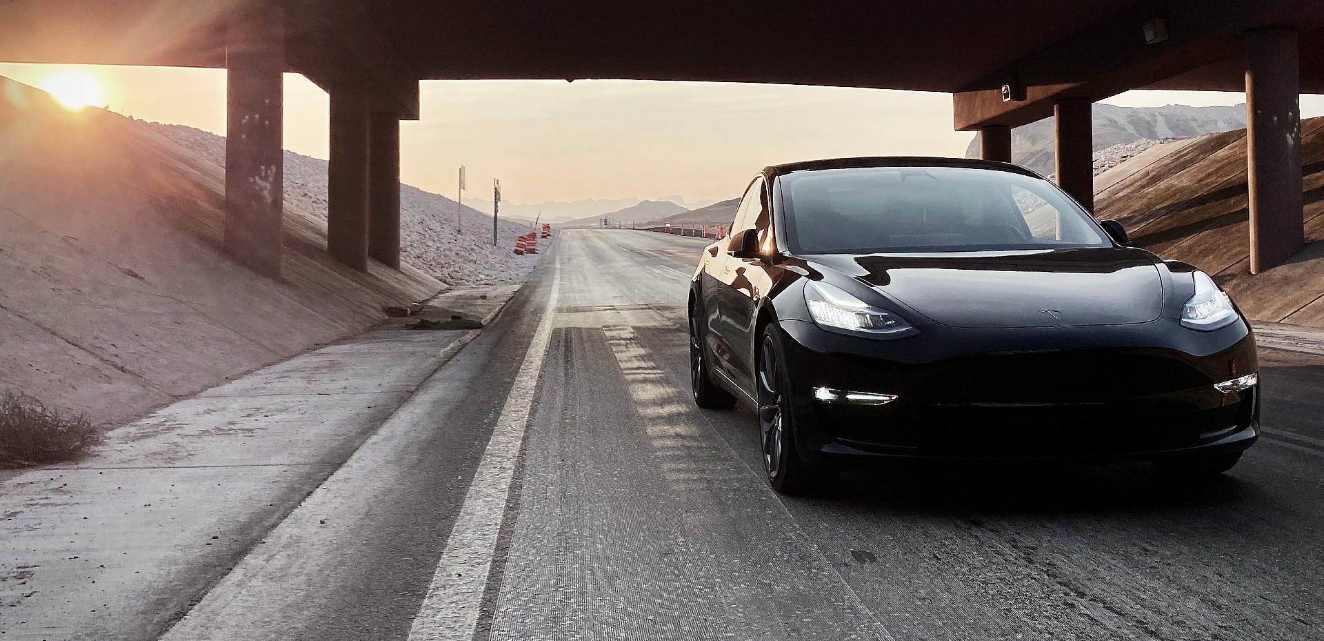 tesla-model-3-black-road-cone