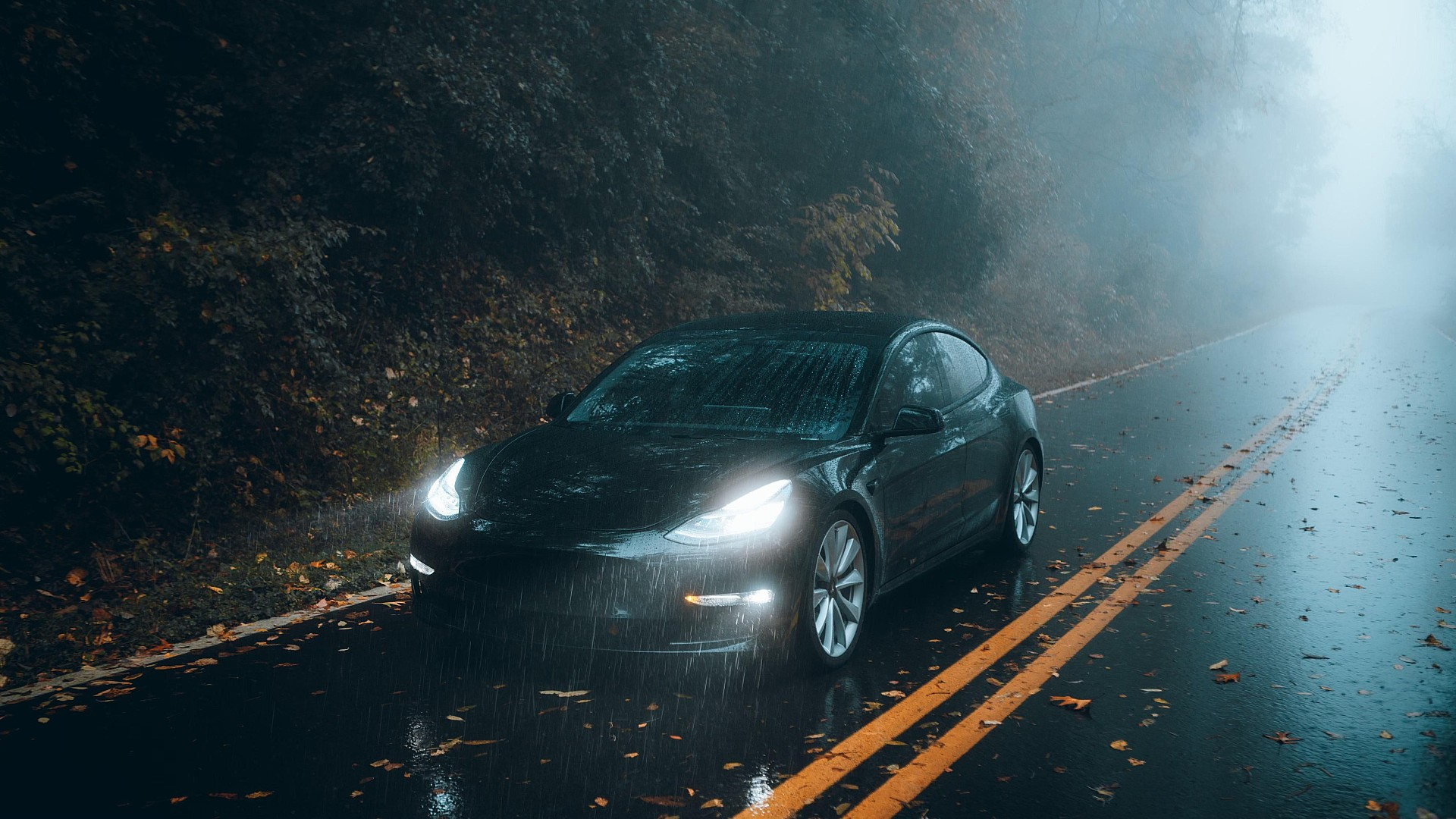tesla-model-3-rain-black-led-lights