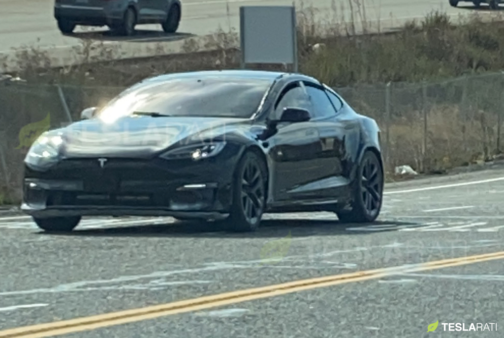 2021 Tesla Model S 'Refresh' leaves test track, hits public streets