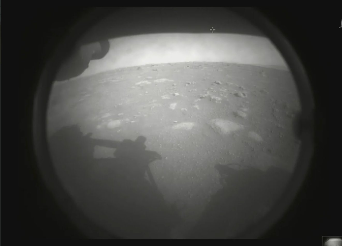 Mars Perseverance first image of Mars