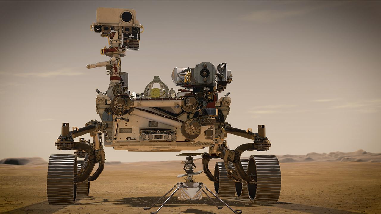 NASA Mars Perseverance Ingenuity on Mars