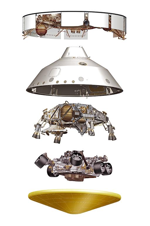 NASA Perseverance Spacecraft parts