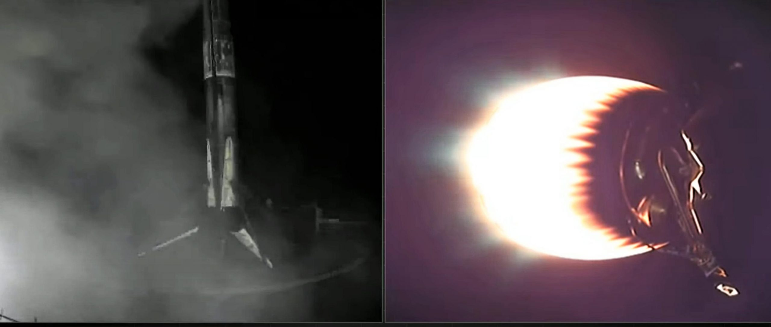 Starlink-18 Falcon 9 B1060 020421 (SpaceX) webcast landing 5