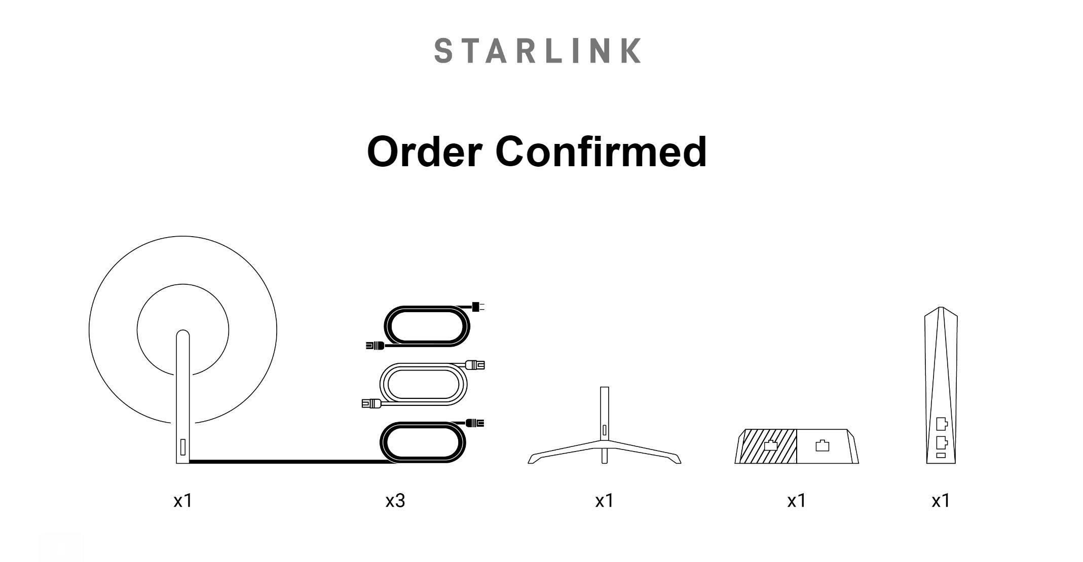 Starlink order confirmed Feb 2021 (Teslarati) 1