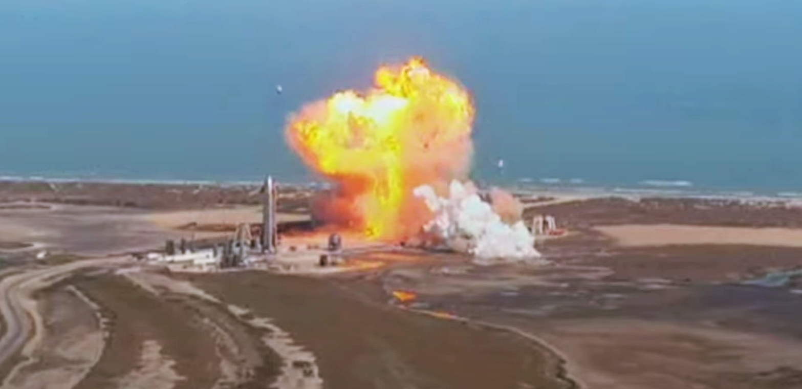 Starship SN9 launch (SpaceX) explosion 1