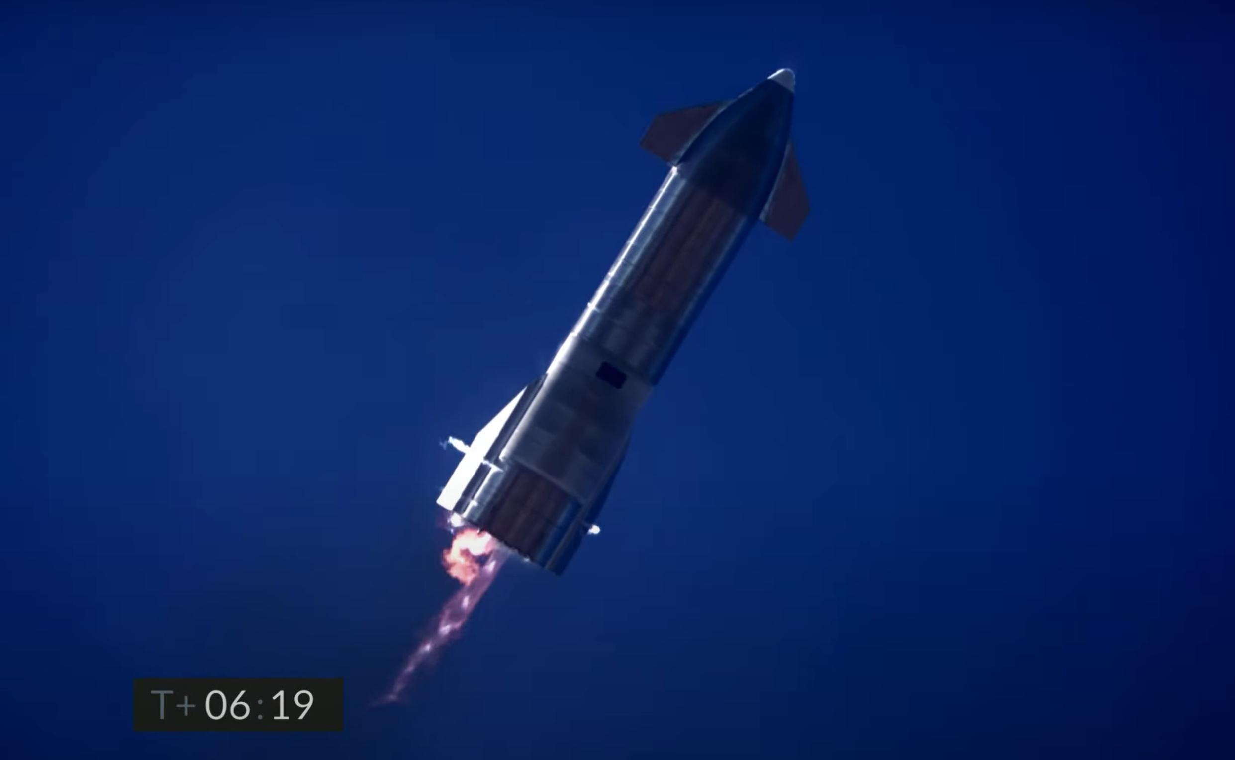 Starship SN9 launch (SpaceX) landing attempt 1 (c)