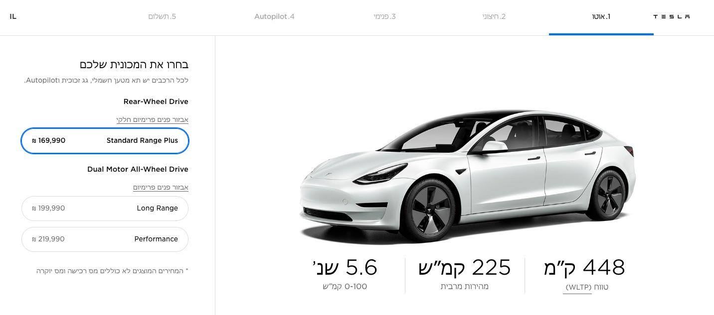 model-3-israel-price