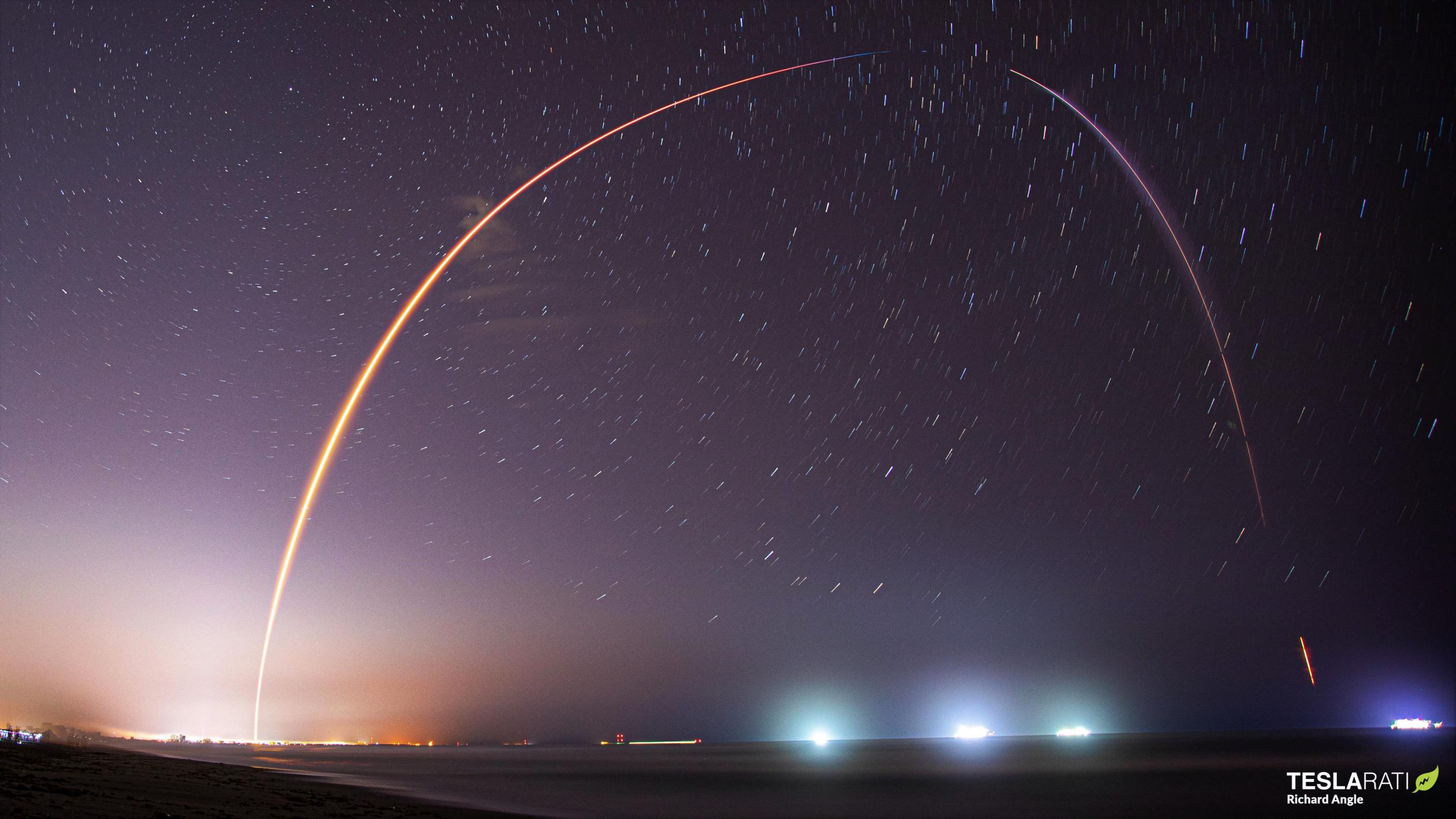 Starlink-21 Falcon 9 B1051 LC-39A 031421 (Richard Angle) streak 1 (c)