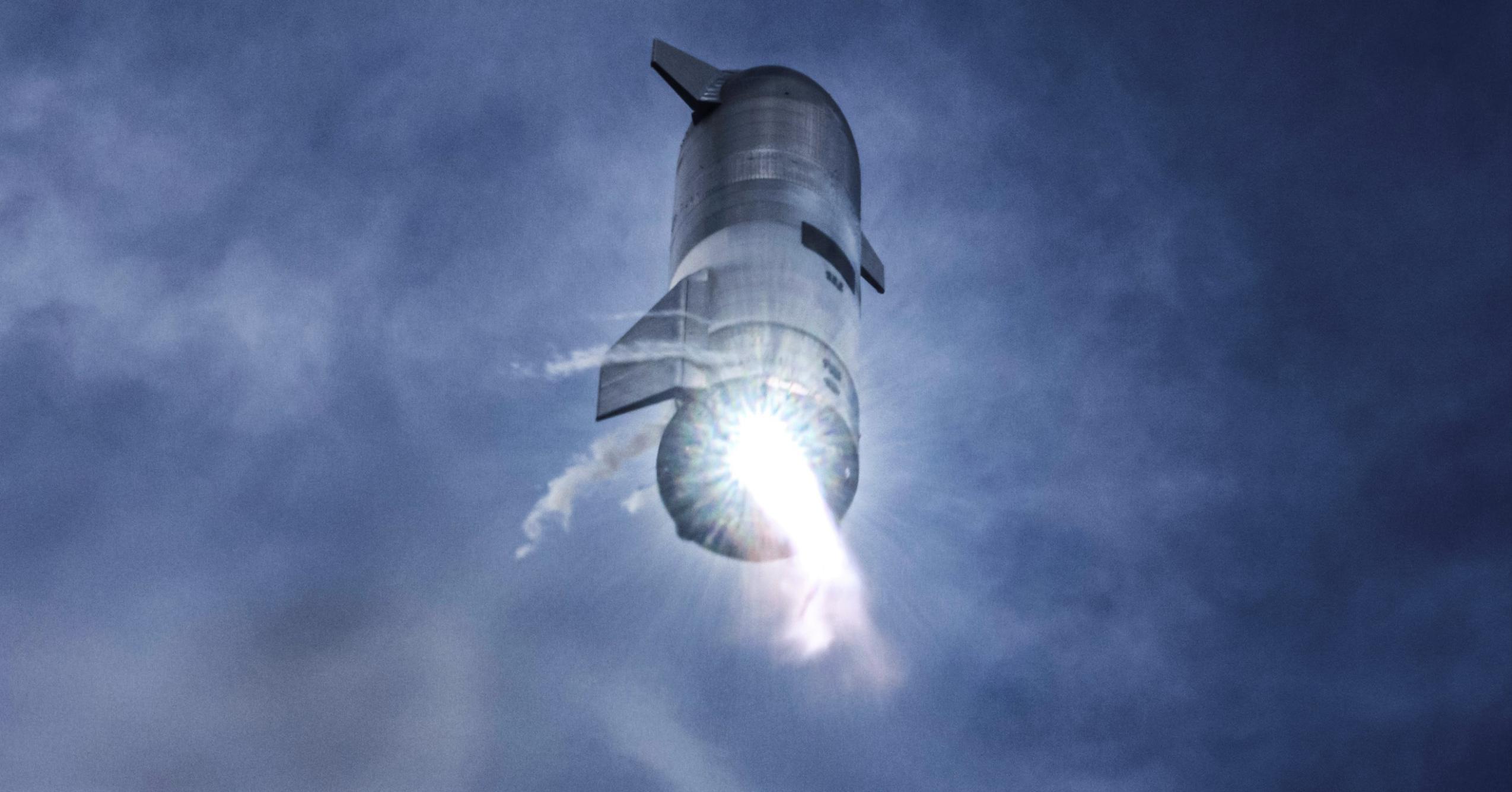 Starship SN10 030221 (SpaceX) flip burn 2 crop 2 (c)