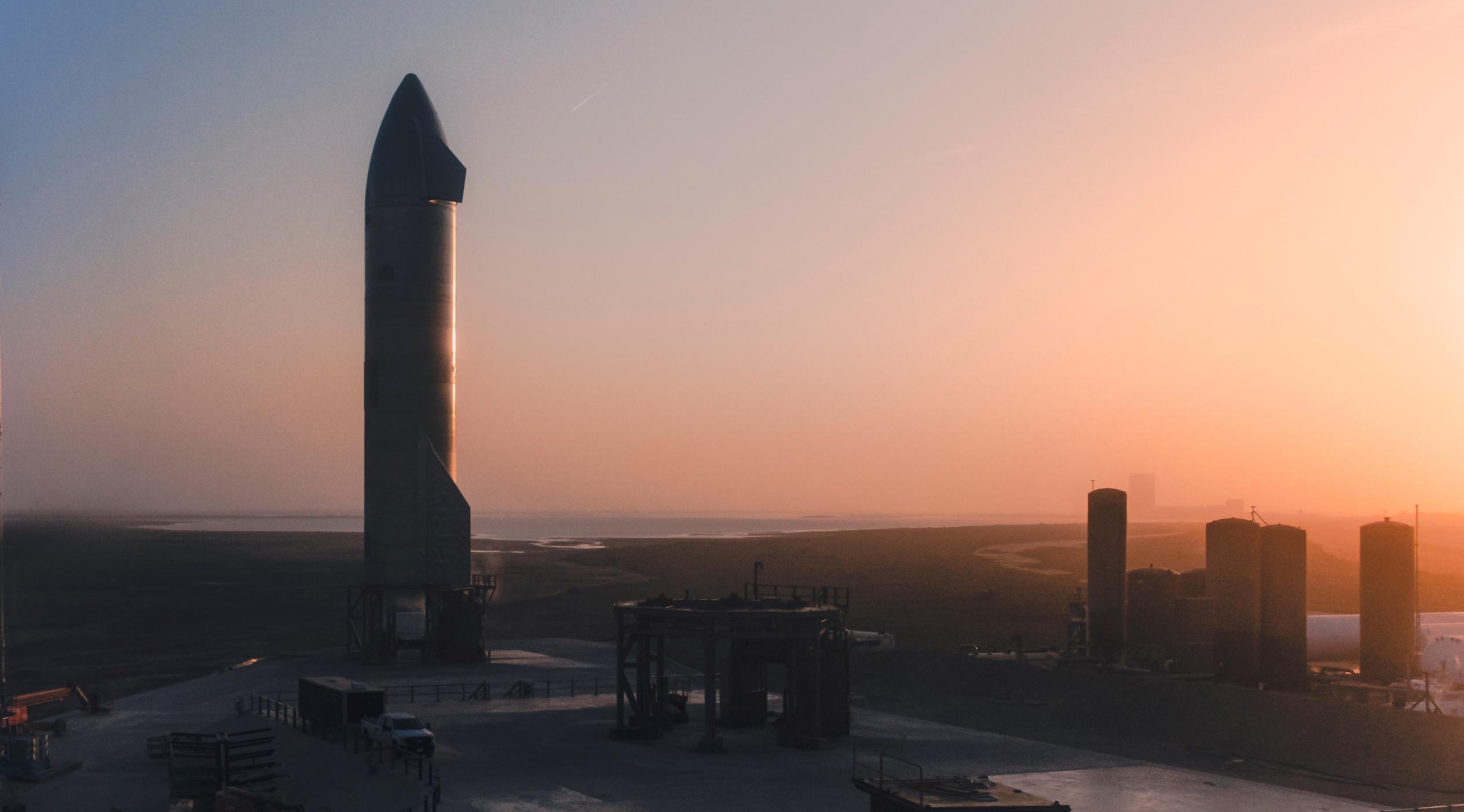 Starship SN11 prelaunch (SpaceX) 1 crop (c)