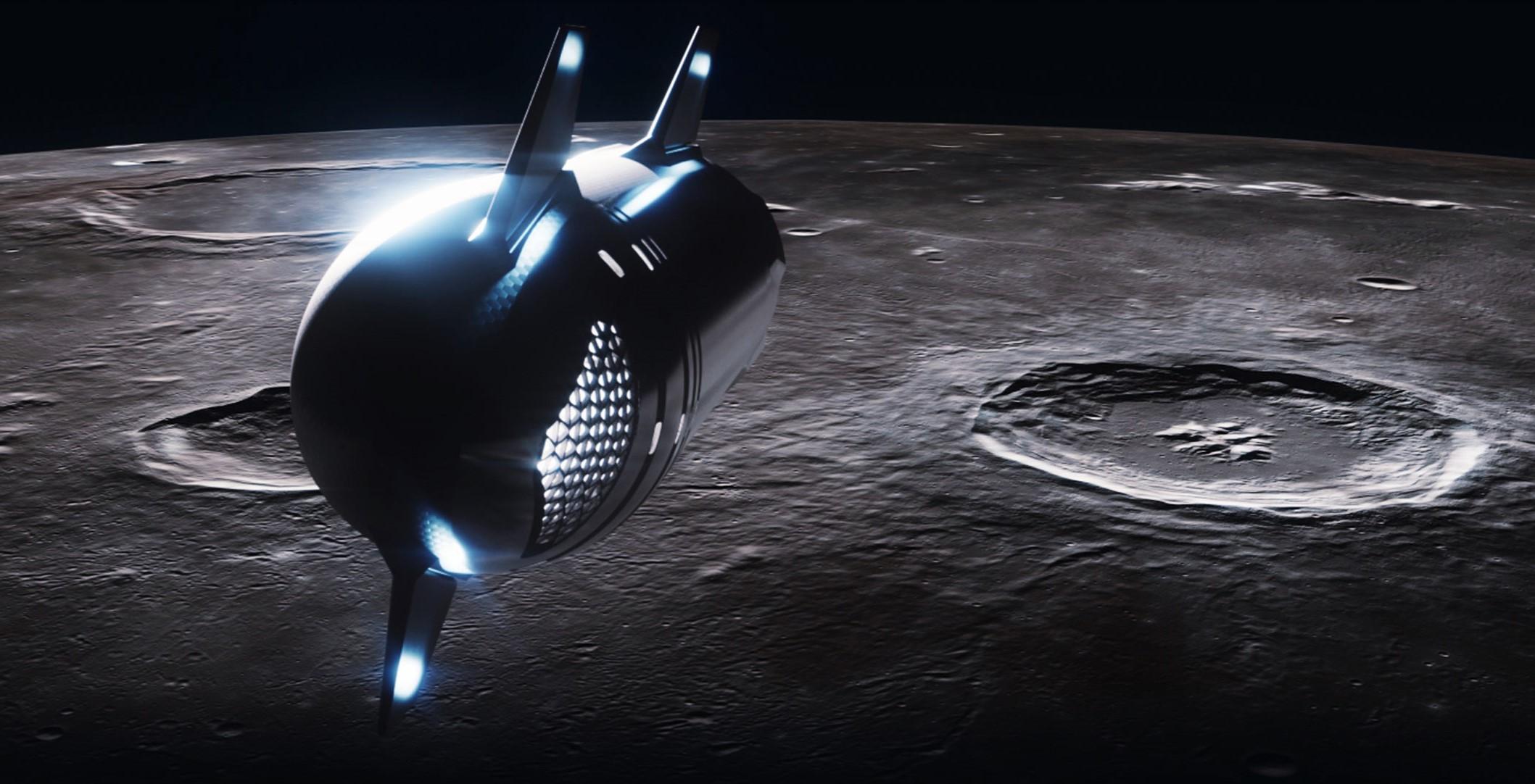 Starship renders 2021 (SpaceX) Moon 1 crop 1