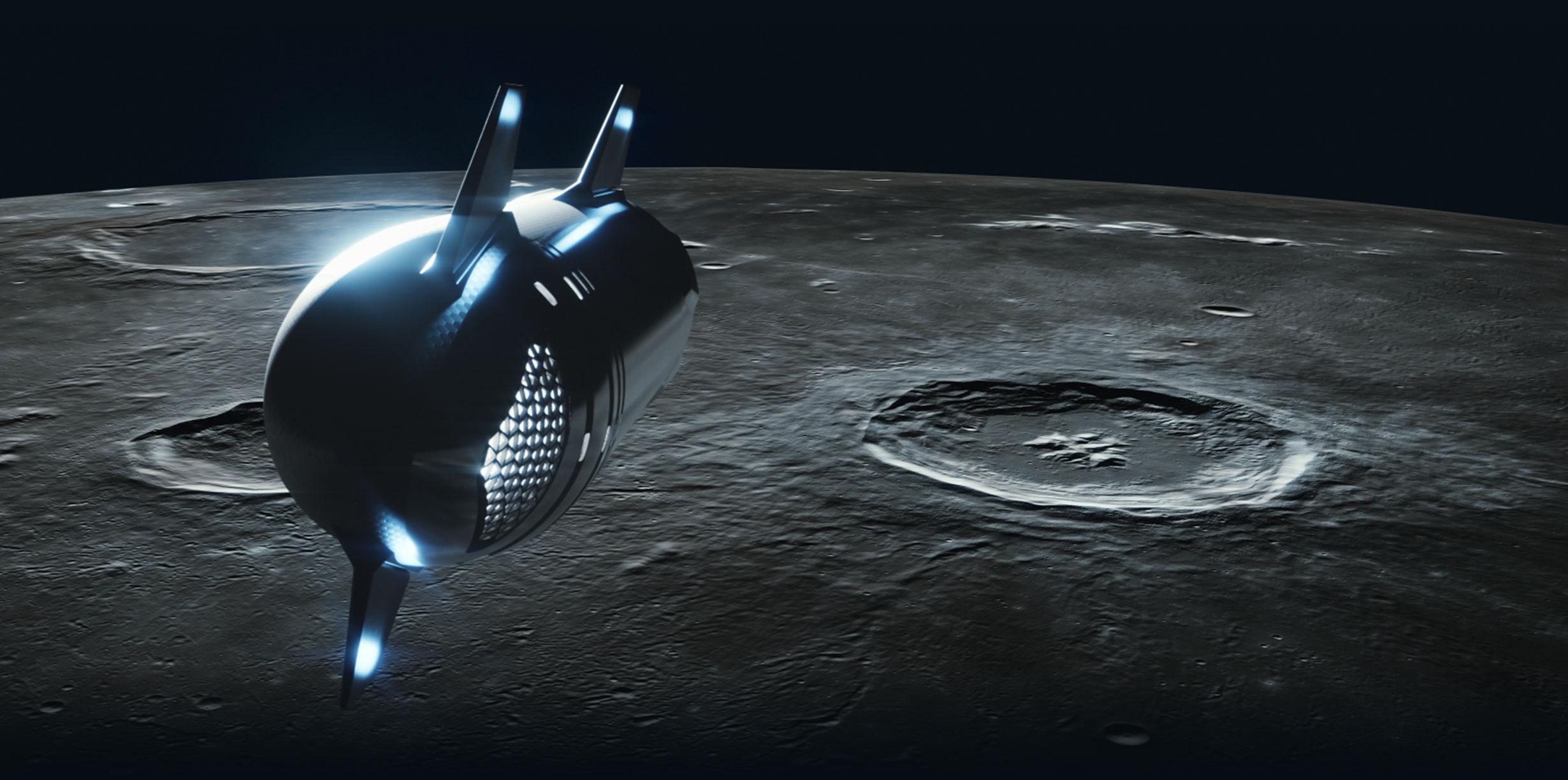 Starship renders 2021 (SpaceX) Moon 1