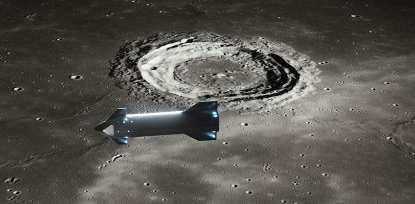 Starship renders 2021 (SpaceX) Moon 3