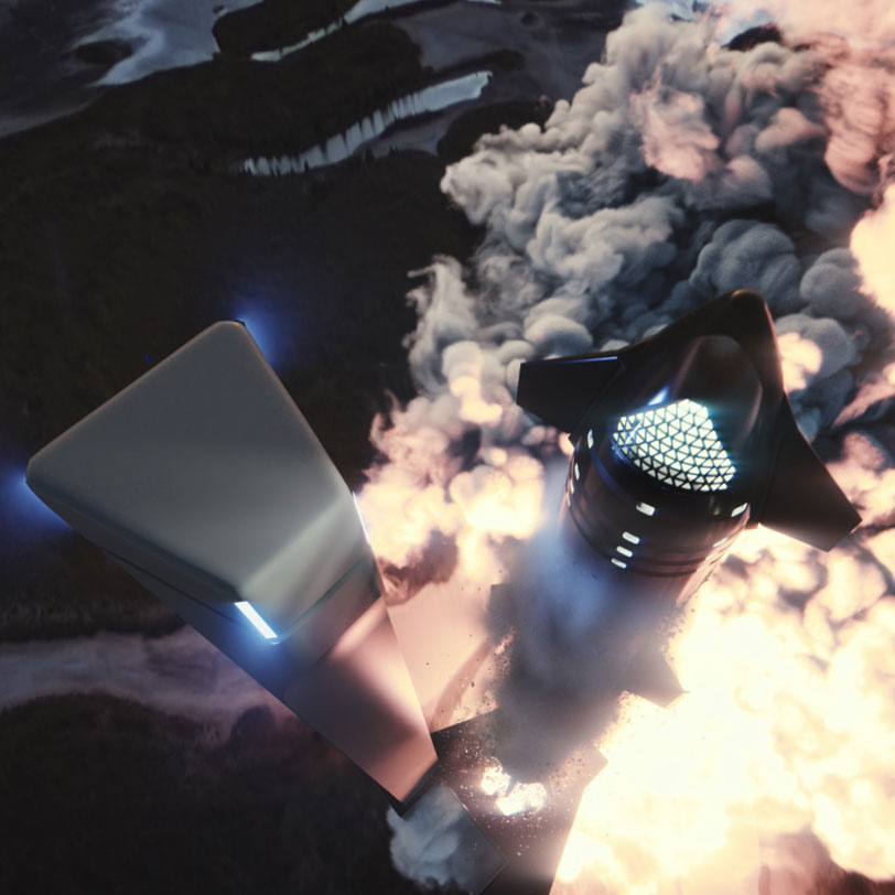 Starship renders 2021 (SpaceX) launch 1
