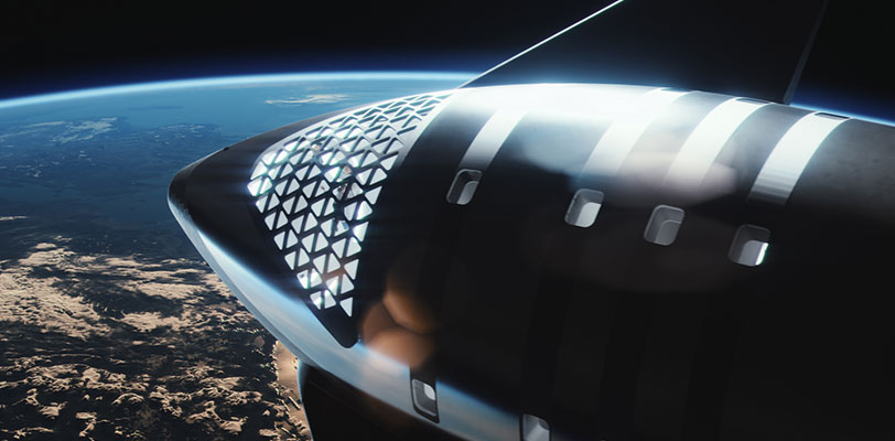 Starship renders 2021 (SpaceX) nose window + Earth 1