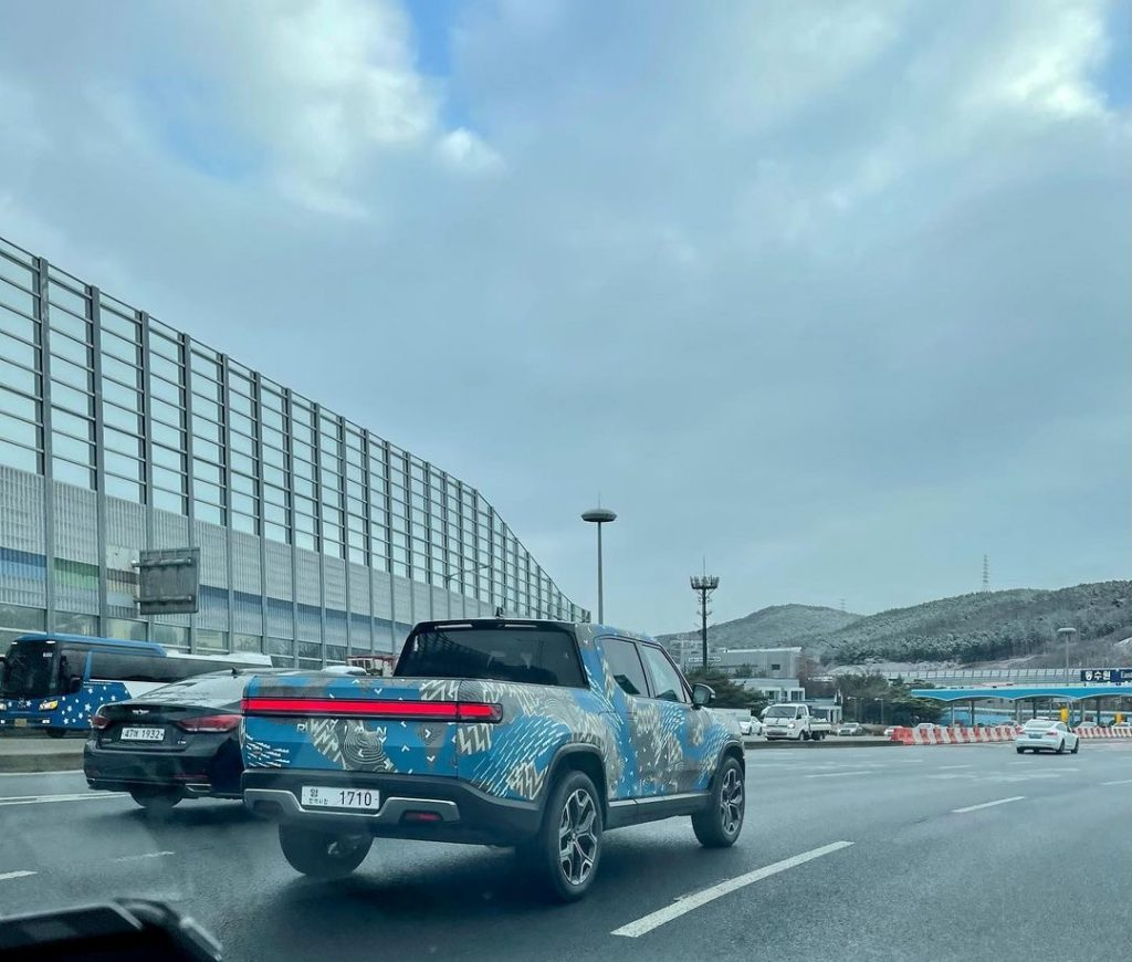 Rivian R1T spotted in South Korea amid LG Chem battery rumors