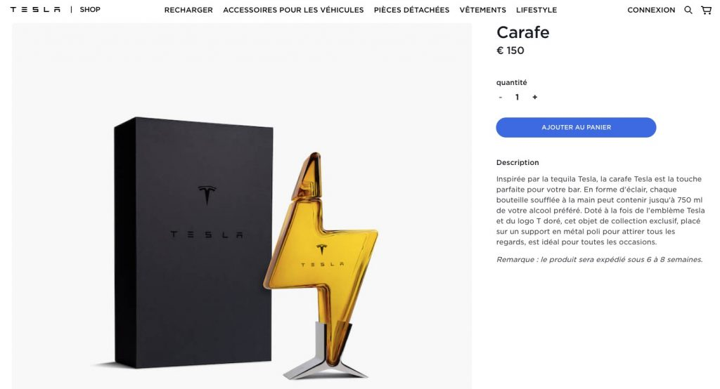 Tesla Tequila Inspired Lightning Shaped Decanter Launches In Europe And China