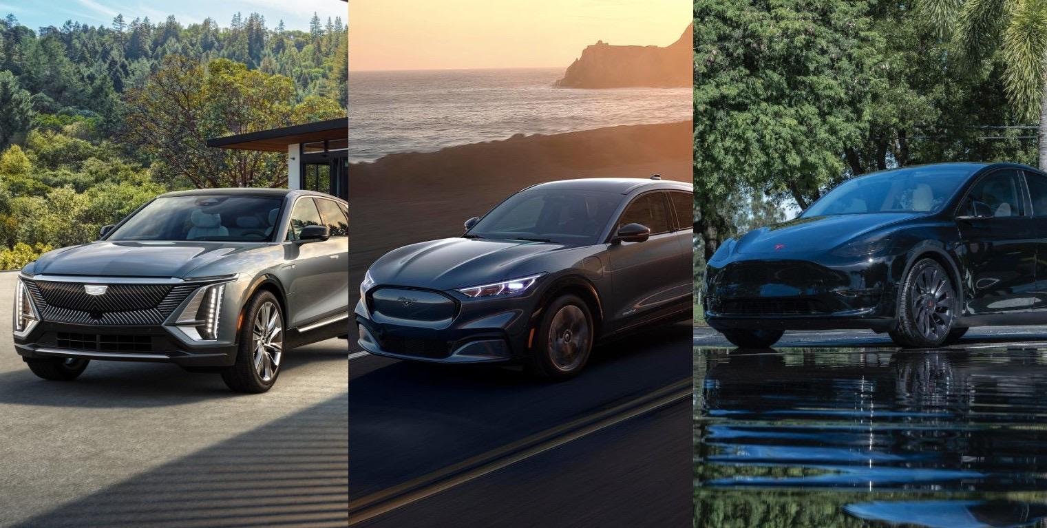 Cadillac-lyriq-vs-ford-mach-e-vs-tesla-model-y-performance-price