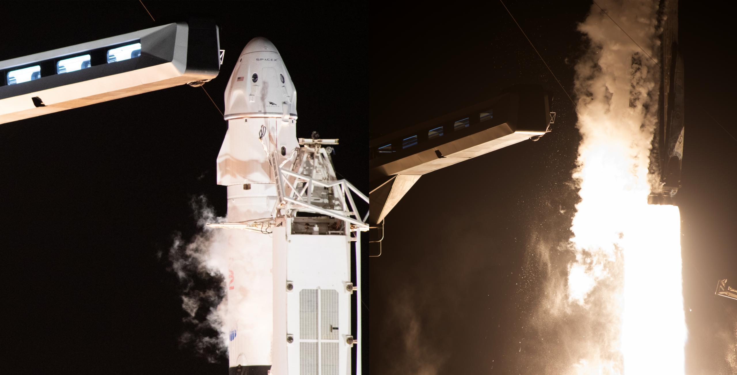 Crew-2 Crew Dragon C206 Falcon 9 B1061 39A 042321 (NASA) launch panel (c)