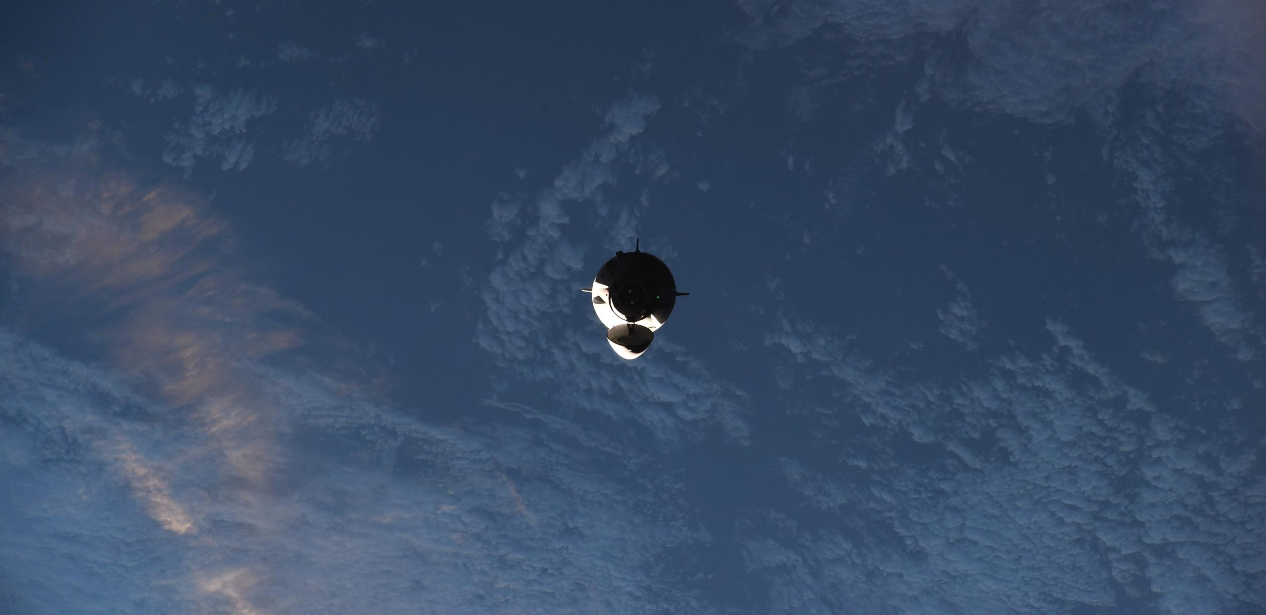 Crew-2 Crew Dragon C206 orbit ops 042421 (NASA) ISS arrival 1 crop (c)