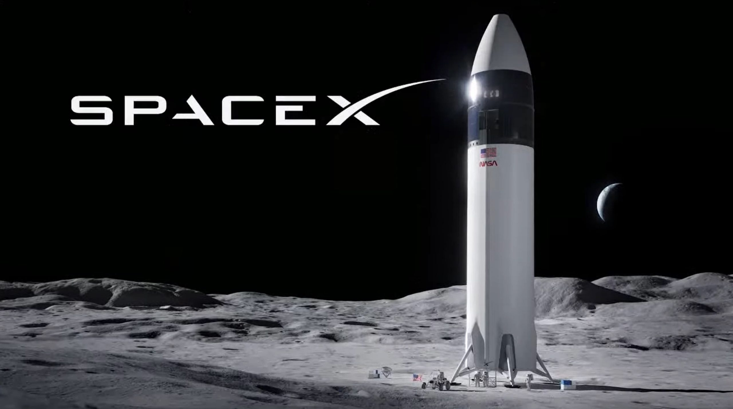 Lunar Starship Artemis (SpaceX) 2021 render 1