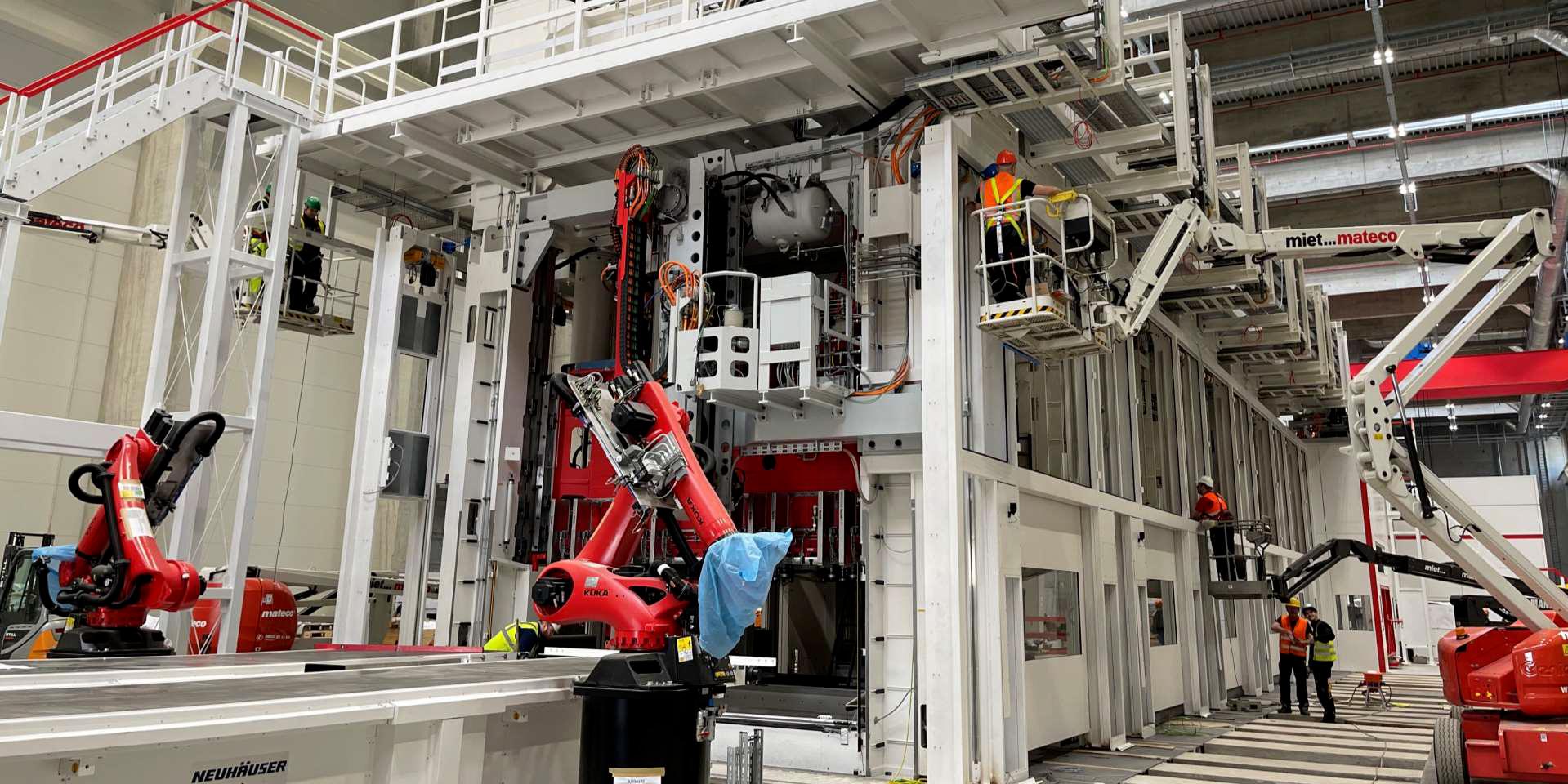 Q1 2021 slides (Tesla) Giga Berlin Model Y stamping press 1