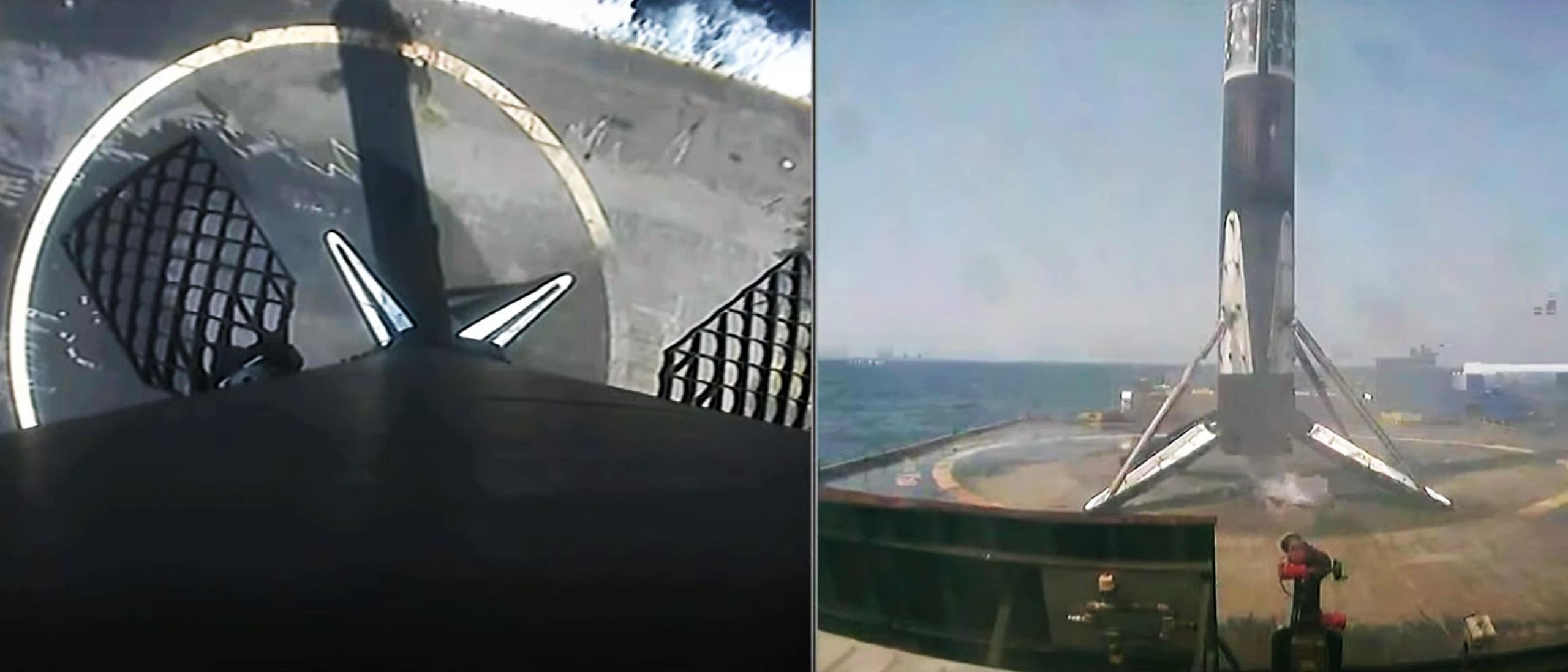 Starlink-23 Falcon 9 B1058 LC-40 040721 webcast (SpaceX) landing 2 edit (c)