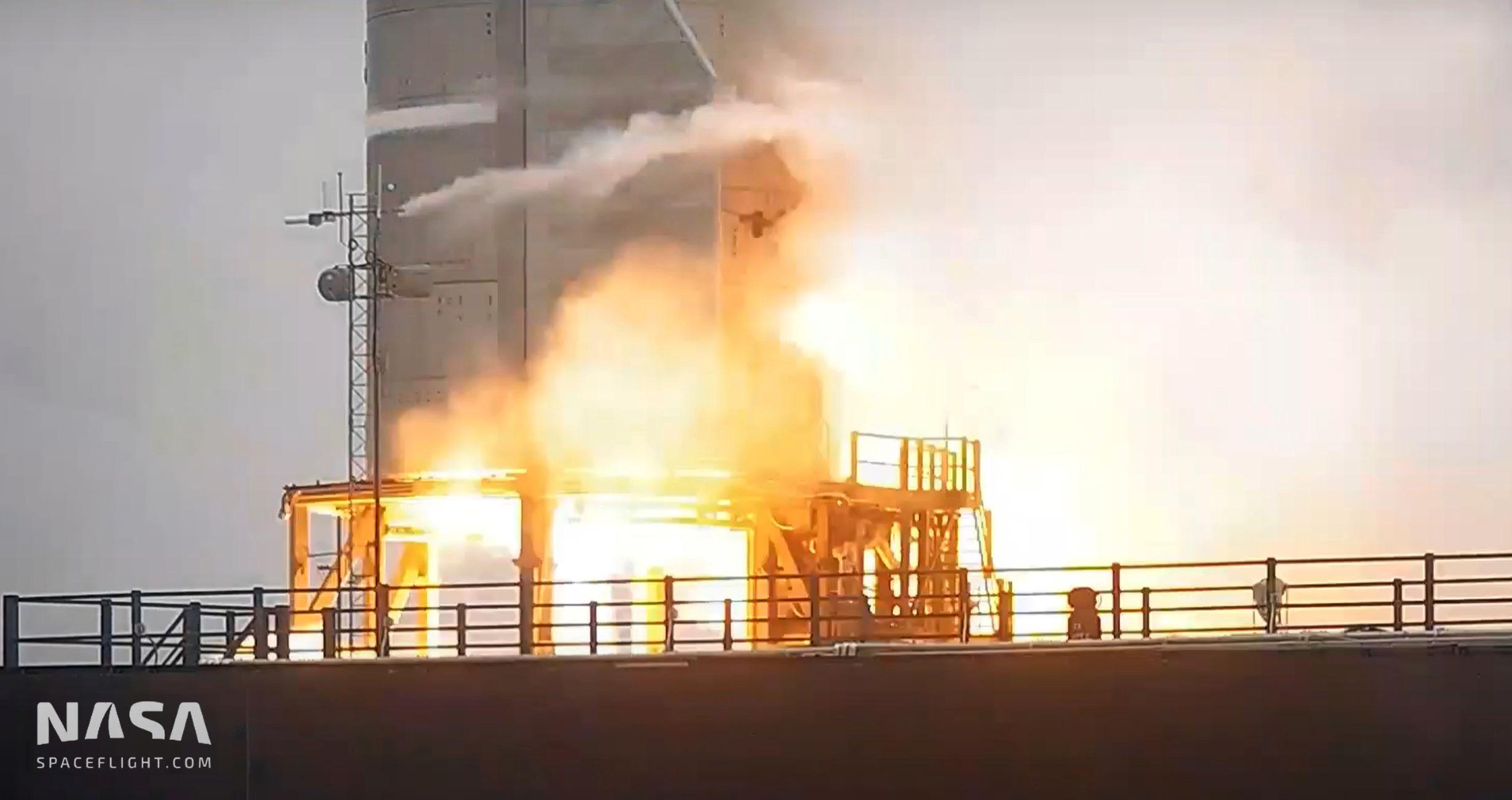 Starship Boca Chica 042721 (NASASpaceflight) SN15 static fire #2 3 edit