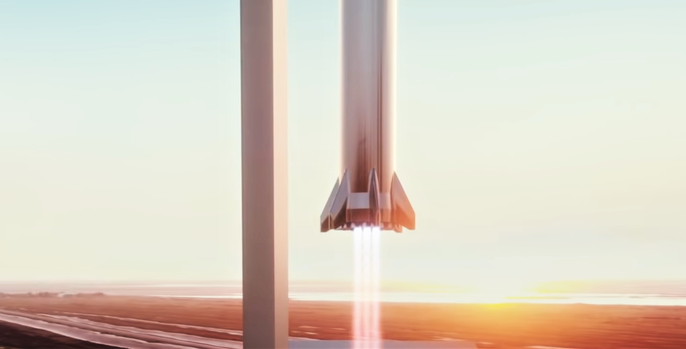 Starship Super Heavy 2019 (SpaceX) booster landing 3 crop