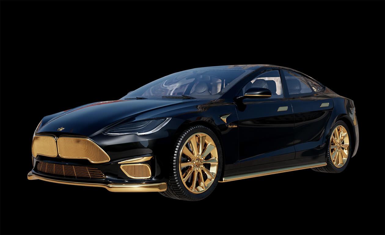 tesla-caviar-model-s-gold