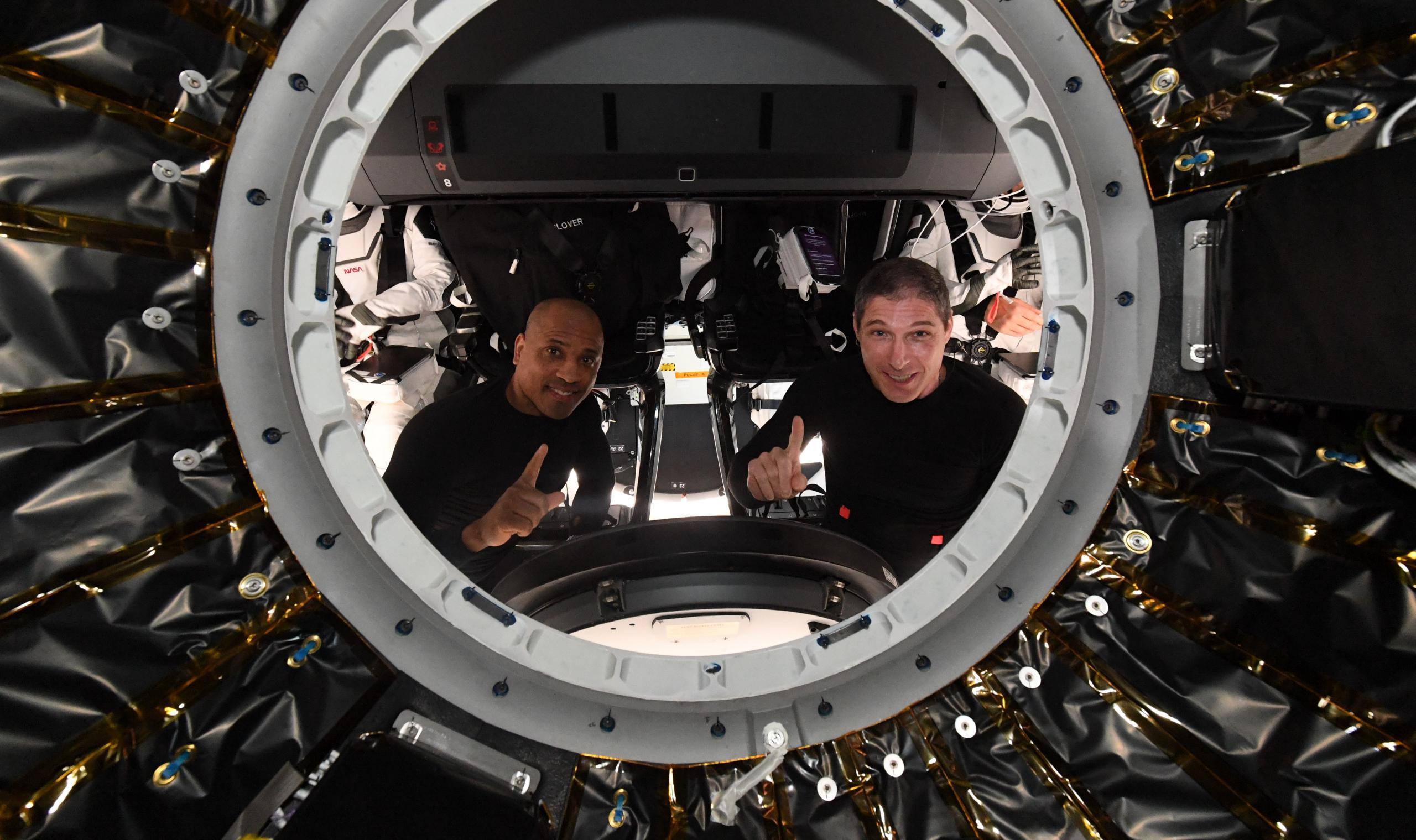 Crew Dragon C207 Crew-1 ISS departure 050121 (Thomas Pesquet – ESA) 1 crop (c)