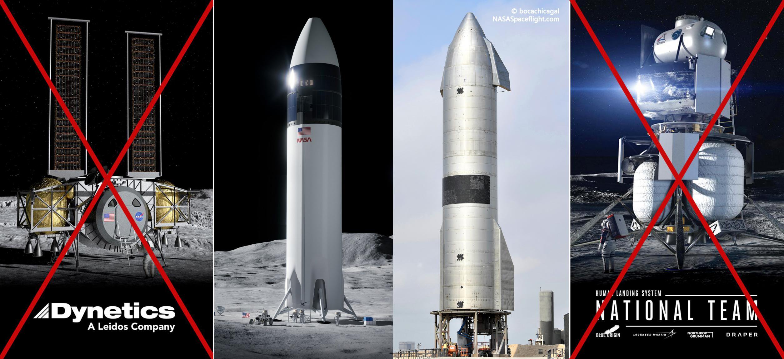Lunar Starship SN15 Blue Origin Dynetics (NASA + bocachicagal) 1 (c)