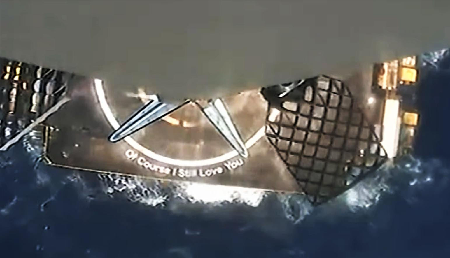 Starlink-26 Falcon 9 B1058 39A 051521 webcast (SpaceX) landing 9 crop