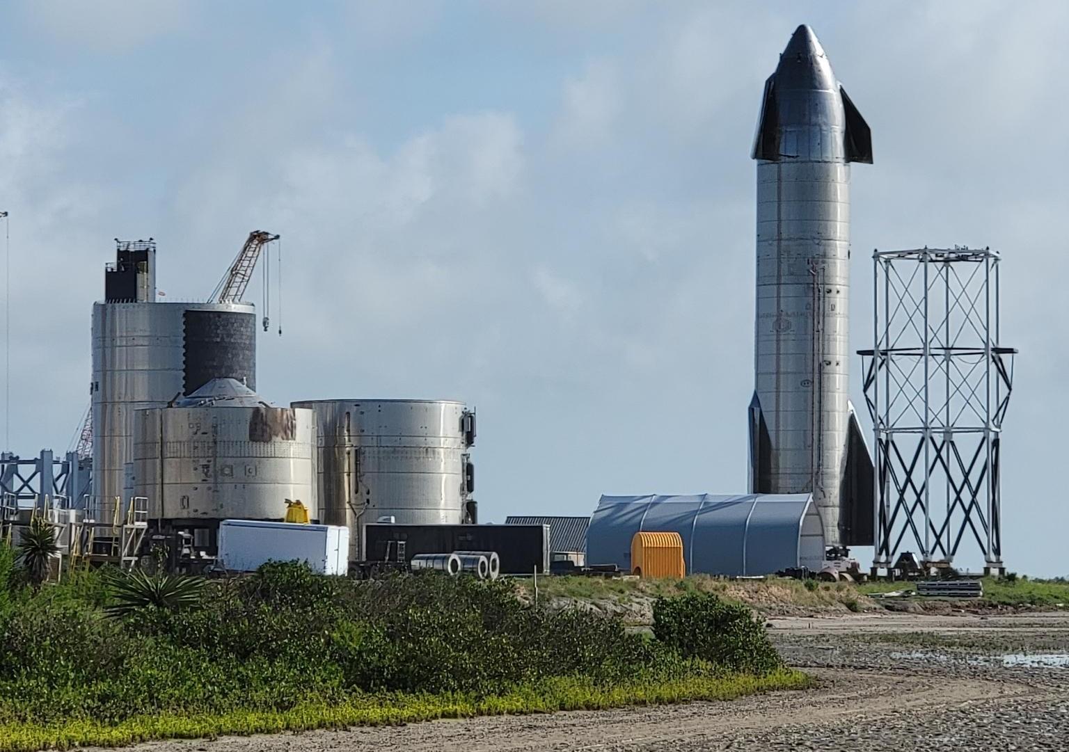 Starship Boca Chica 052621 (NASASpaceflight – Nomadd) SN15 retirement 1 crop
