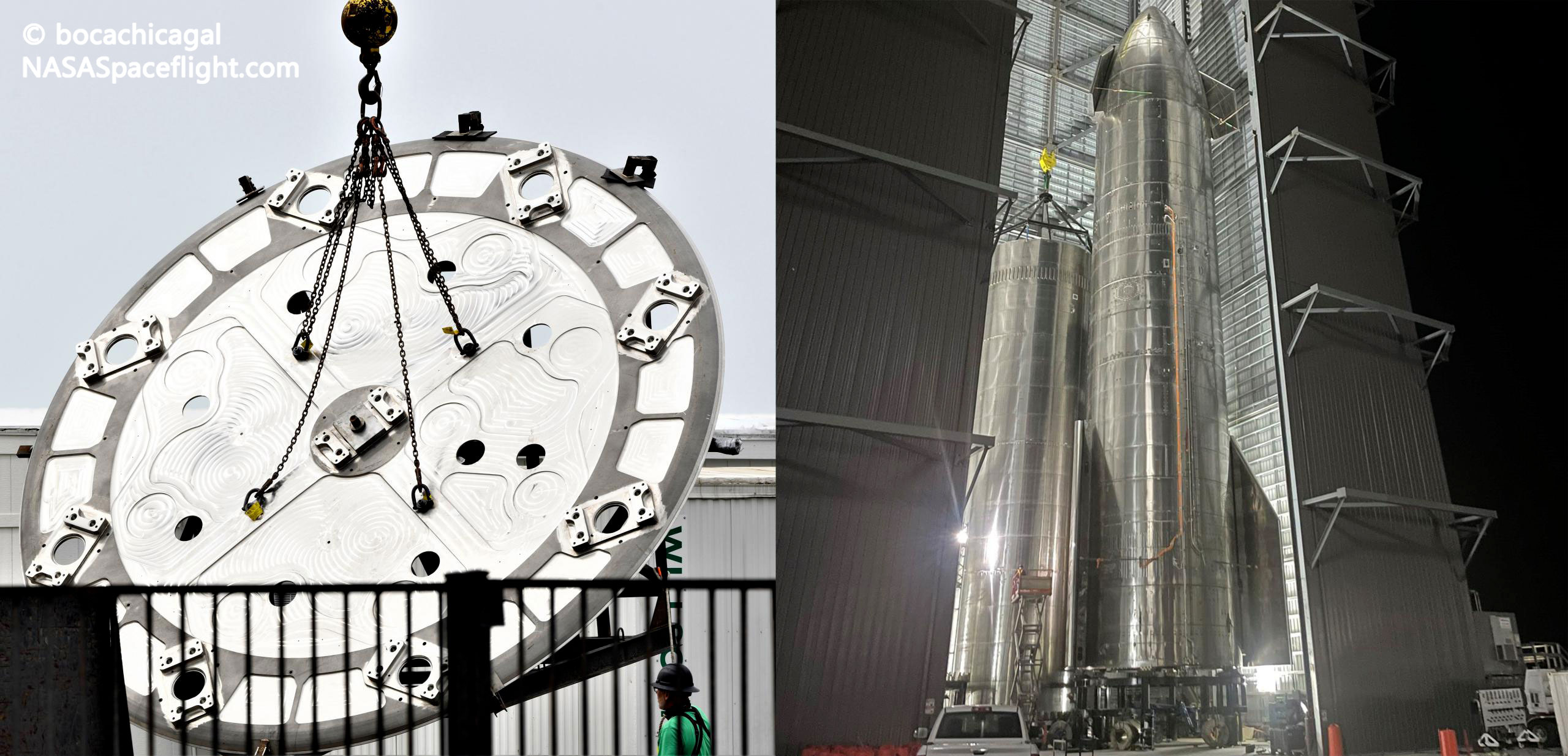 Starship Boca Chica 052921 (NASASpaceflight – bocachicagal) booster thrust puck + BN2 2 (c)