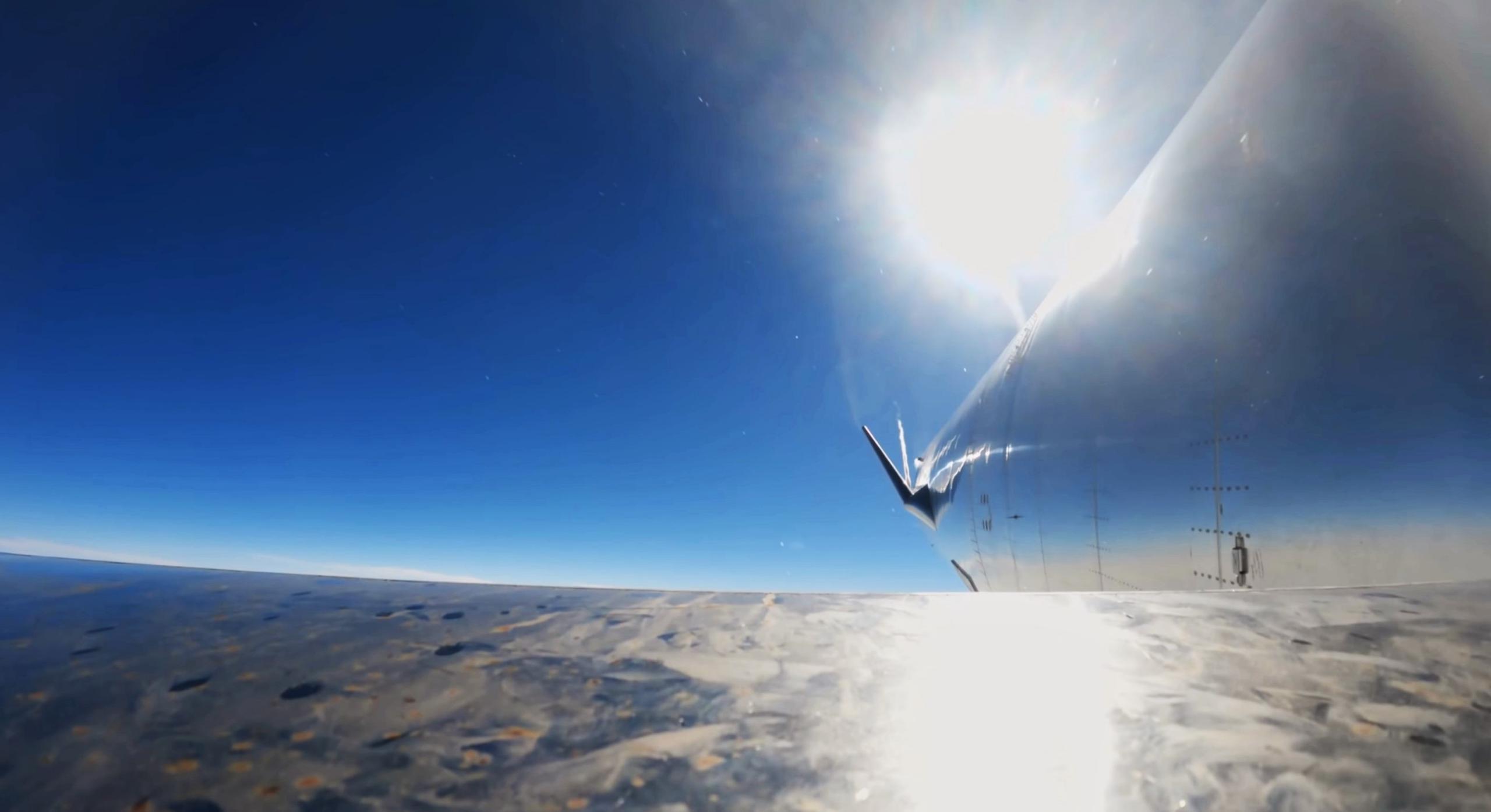 Starship SN15 10km flight test 050521 recap (SpaceX) flap view 5 (c)
