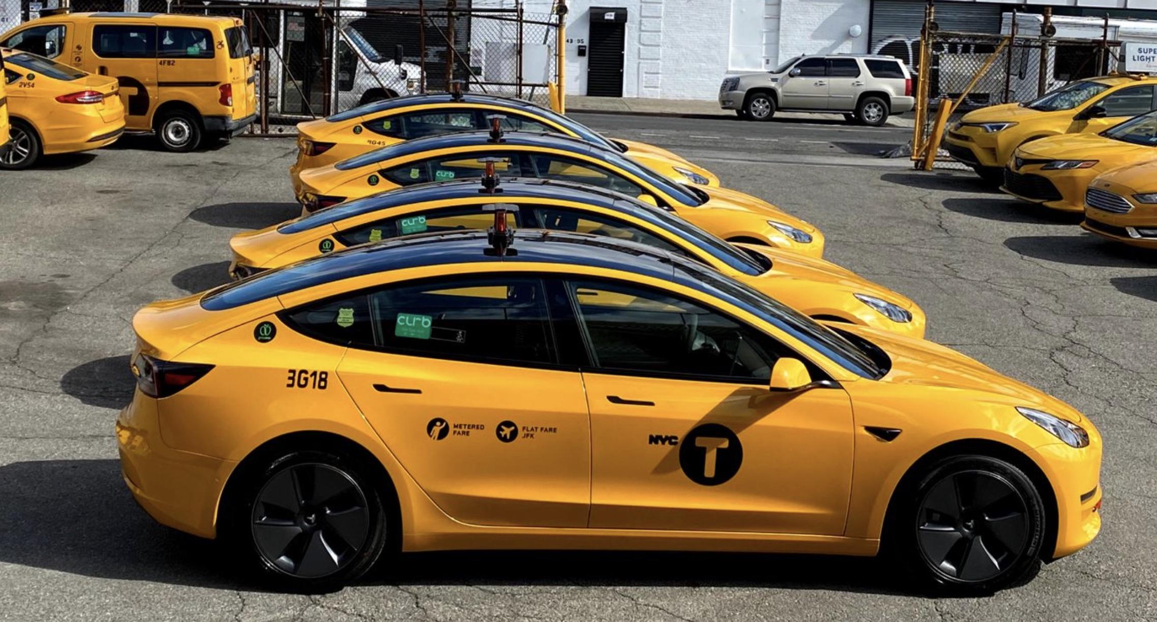 Telsa-model-3-yellow-taxi