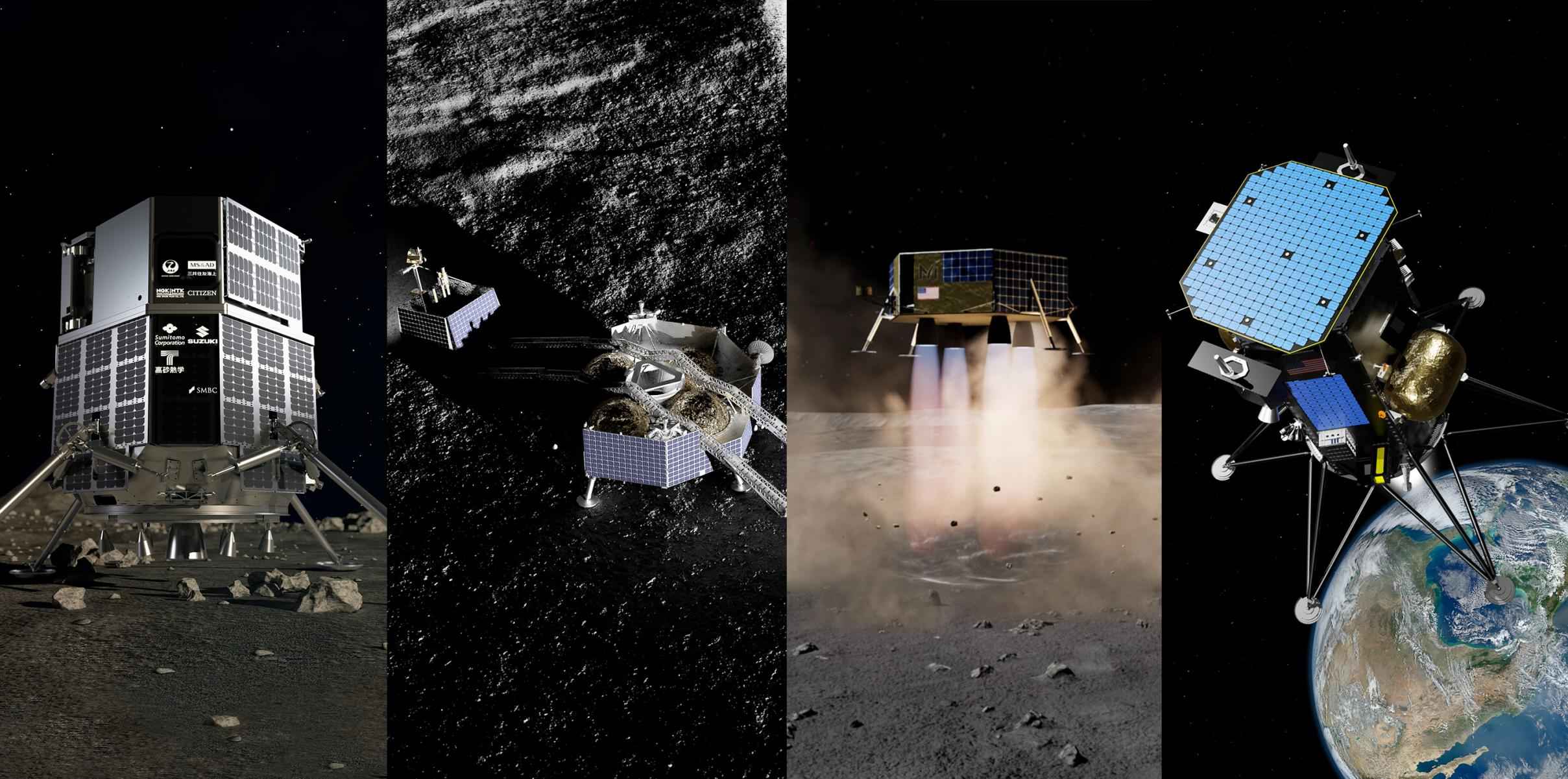 ispace Astrobotic Masten Intuitive Machines Moon landers 1 (c)