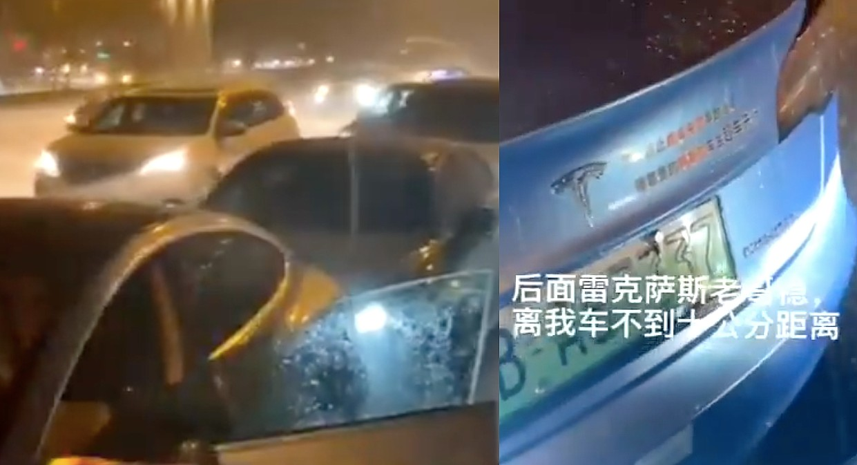 Tesla Model 3 kills China's 'brake failure' rumors anew in rainy, multi-car collision