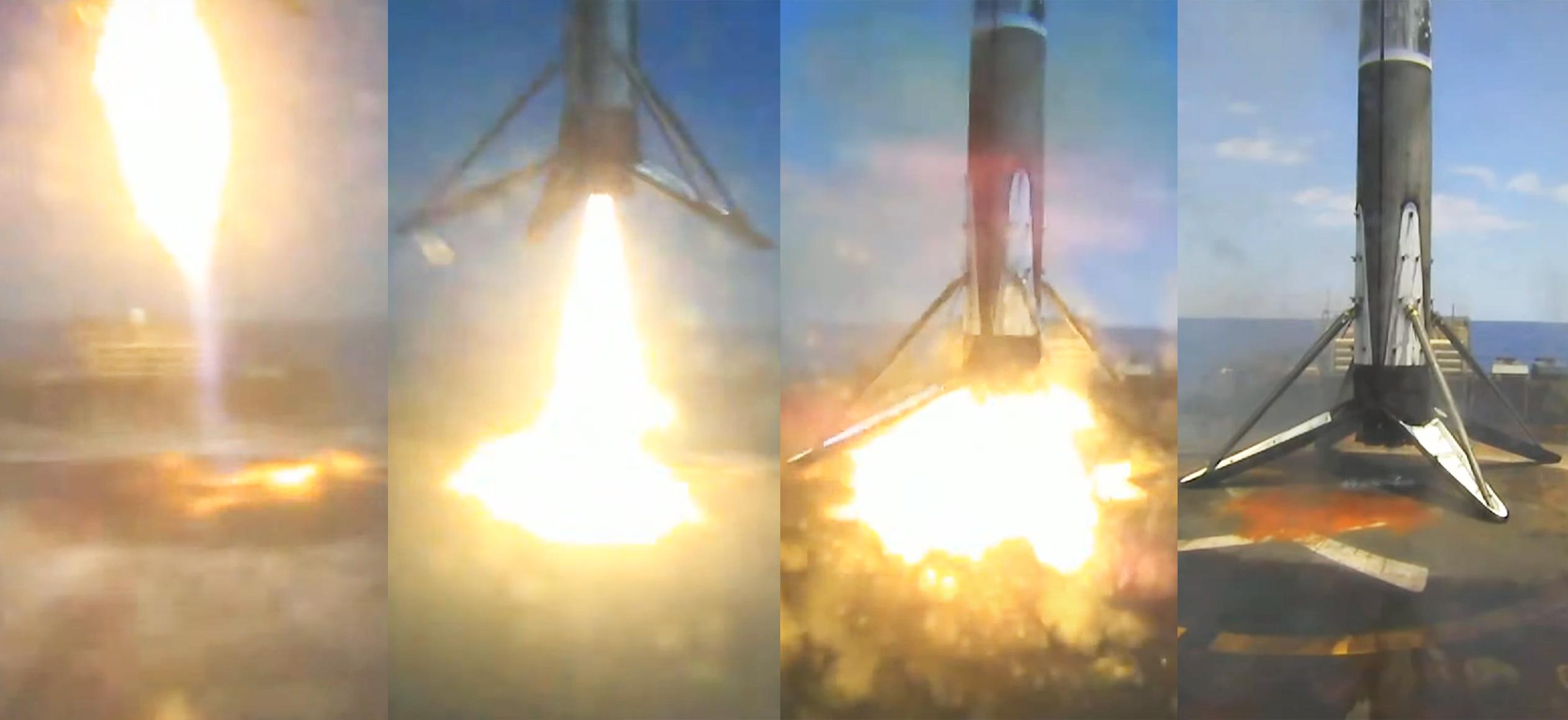 GPS III SV05 Falcon 9 B1062 061721 webcast (SpaceX) JRTI landing
