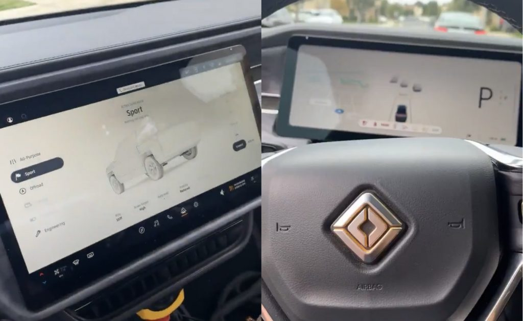 First Look at Rivian R1T's interior, UI, and controls in action [photos]