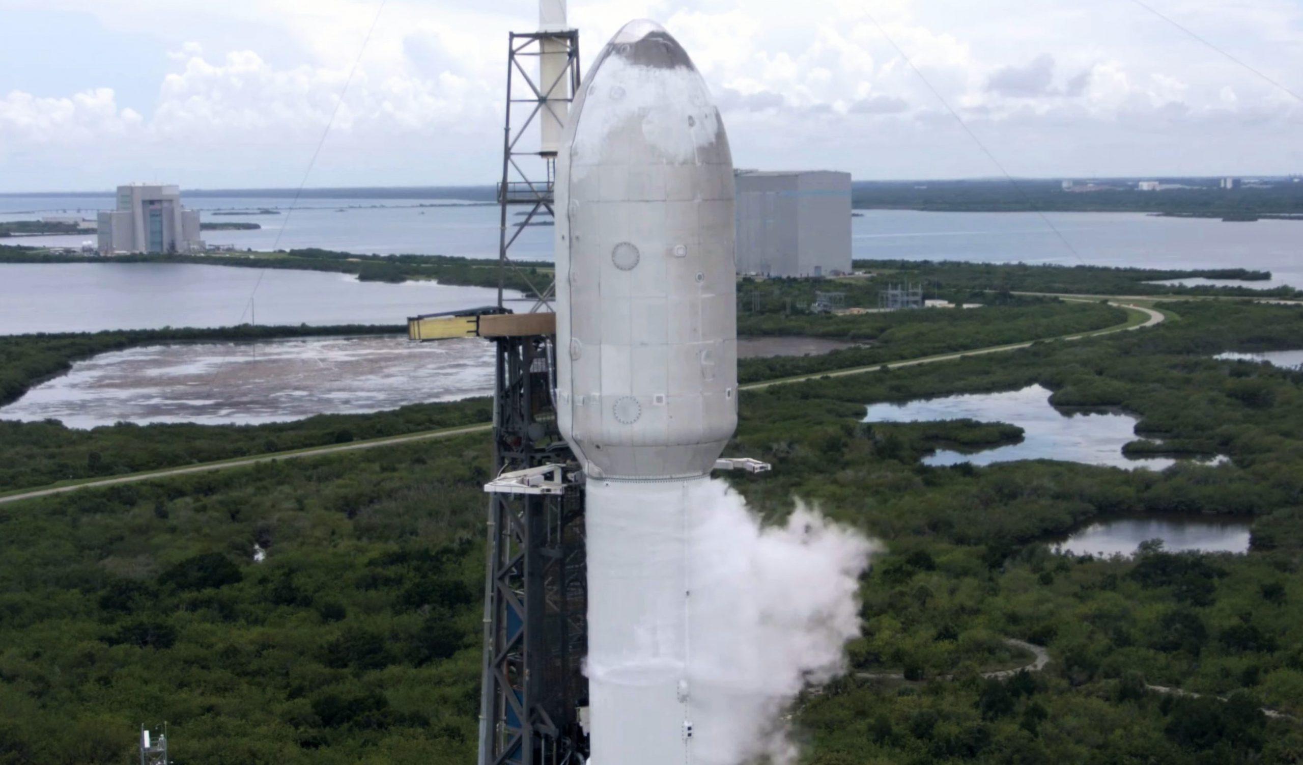Transporter-2 Falcon 9 B1060 062921 webcast (SpaceX) fairing 2 crop