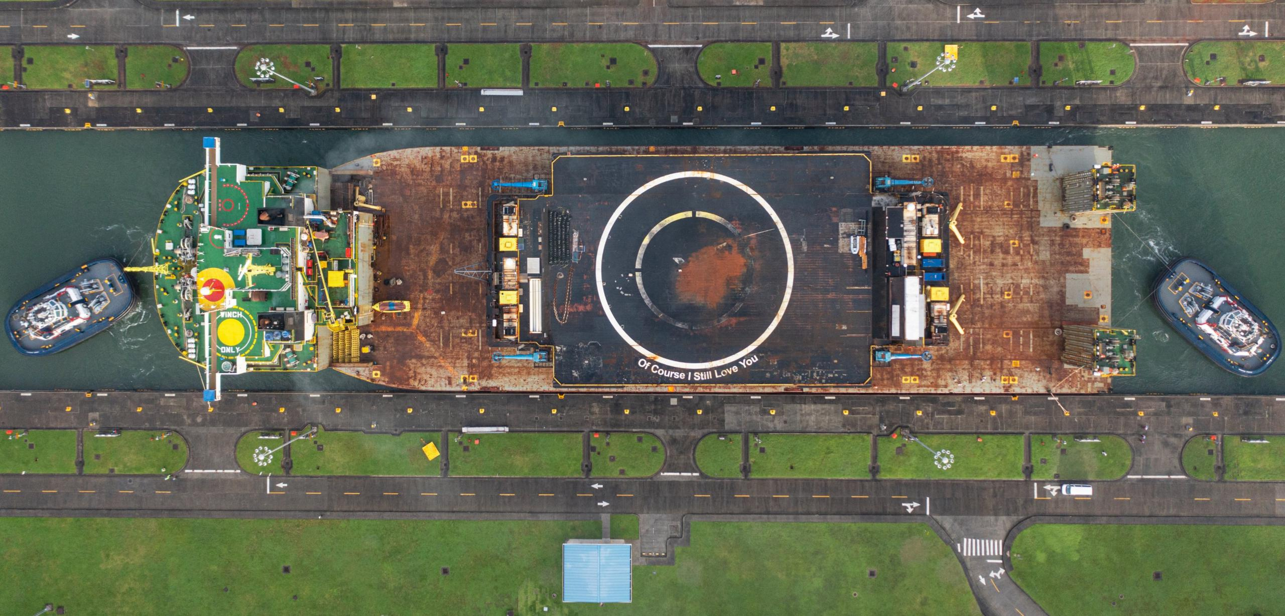 drone ship OCISLY canal transit 062521 (@ThePanamaCanal) 6 crop (c)