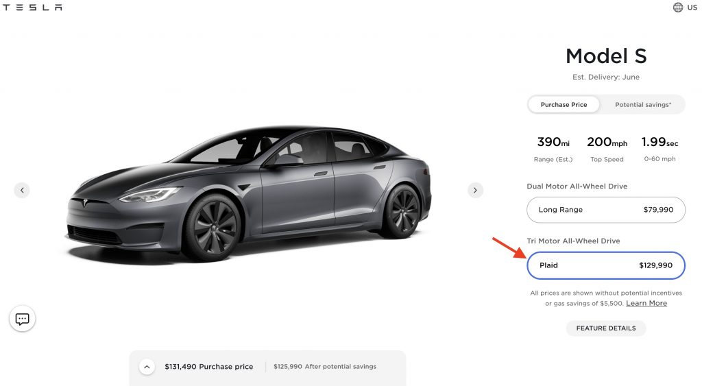 photo of Tesla hikes Model S Plaid price by $10k ahead of world debut image