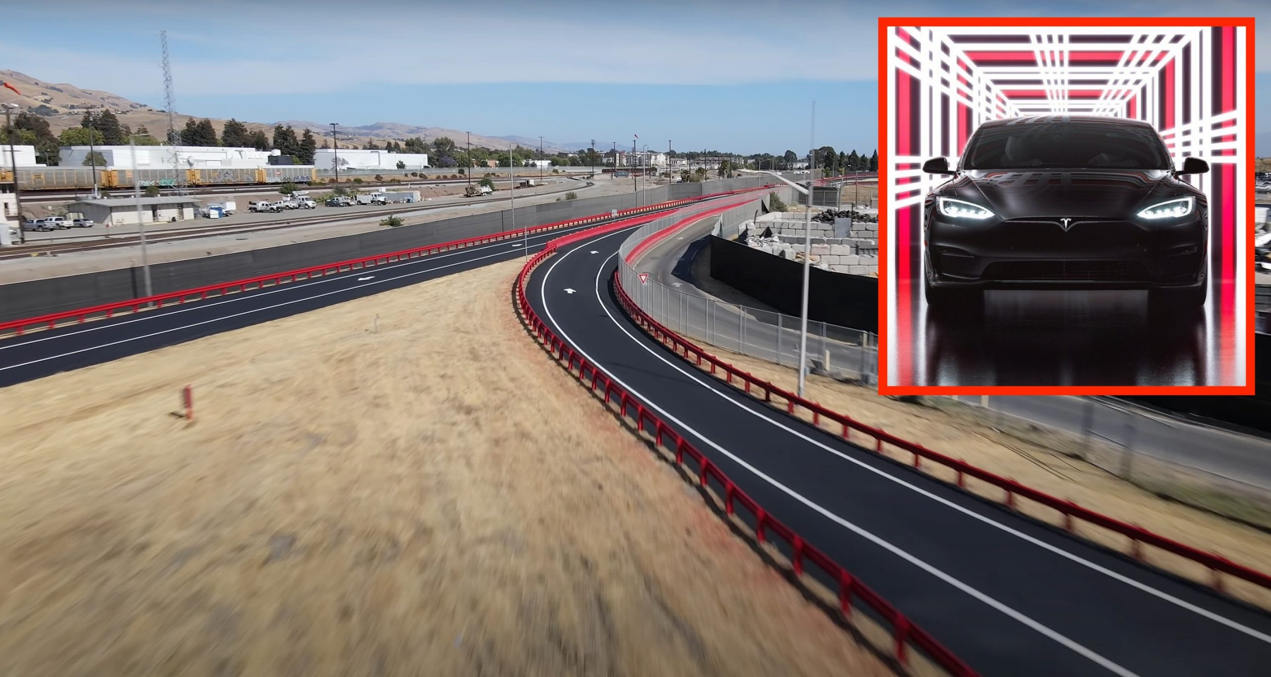 Tesla Fremont Factory test track gets redone in time for Model S Plaid  delivery event