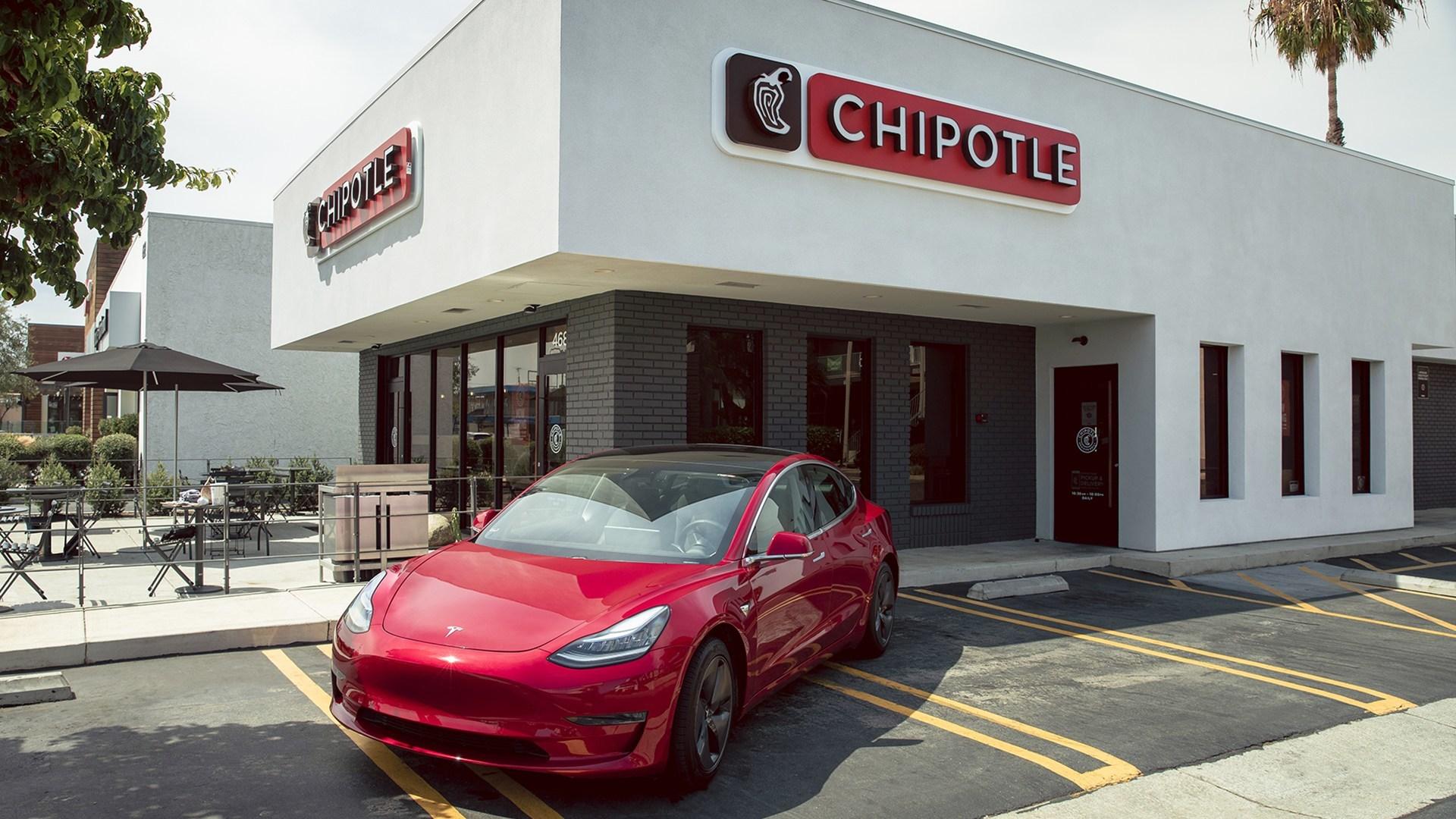 Chipotle 2021 Tesla Model 3 Award Car